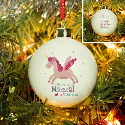 Personalised Magical Bauble Christmas Bauble